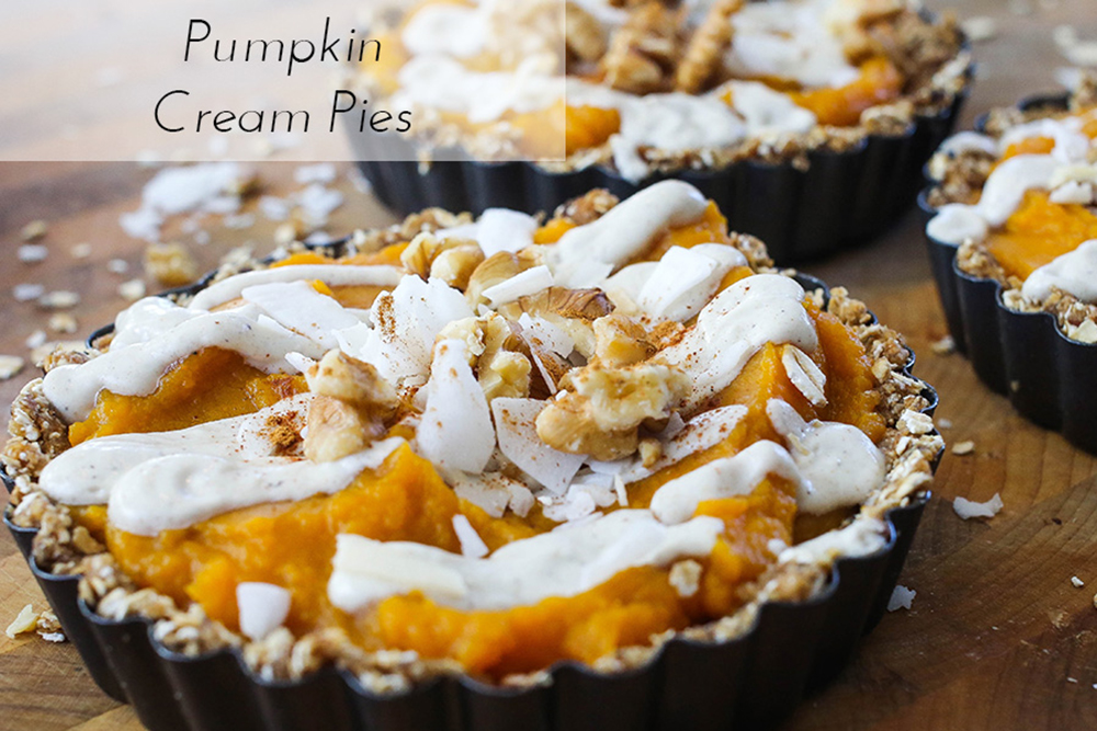 Vegan Pumpkin Cream Pies